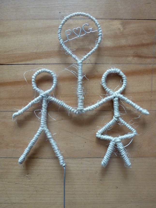 Twine Couple Cake Topper