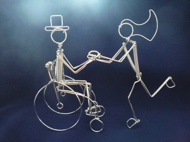 Wheelchair Wedding Cake Topper on Etsy